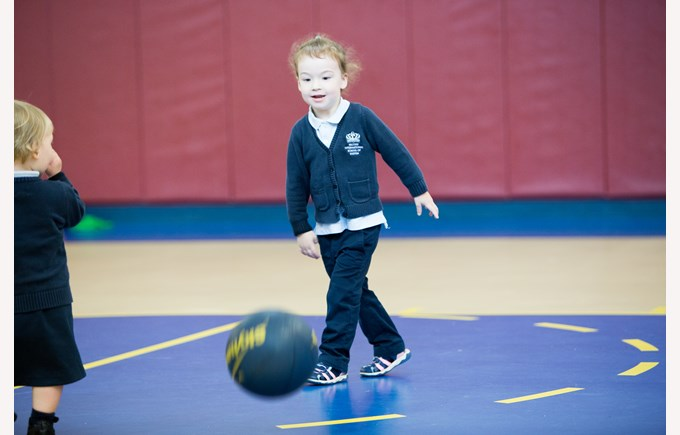 Toddler in PE Class