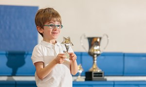Boy with Award