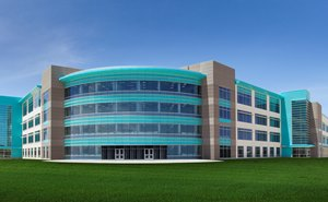 Photo of the front of the new building in high resolution