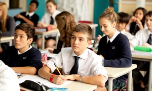 Secondary students in class
