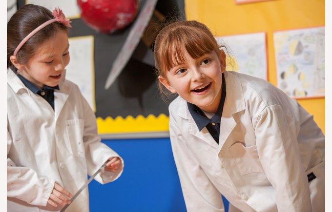girls science lab coats KS2