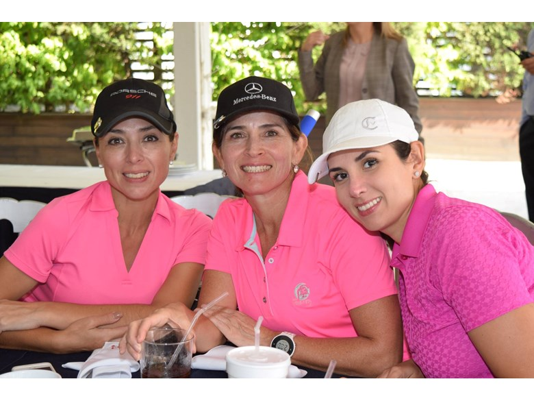 Moms at golf tournament