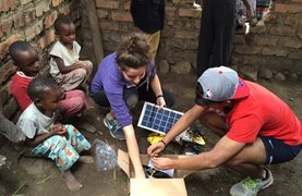 Students build solar powered lights for villagers in Tanzania