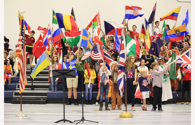 International Day Flag Parade