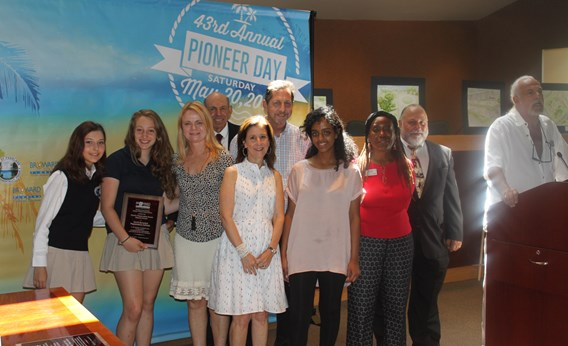 NBPS Presented with award from Broward County Historic Preservation Board