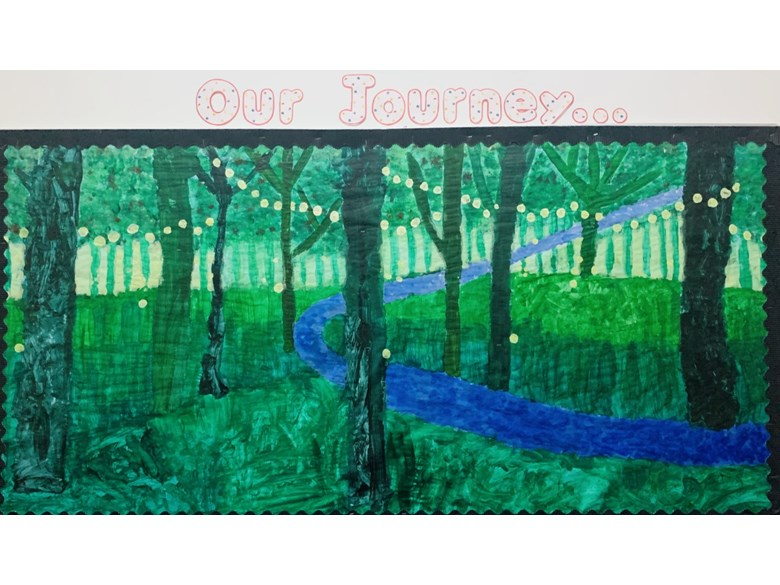 forest painting forest scene crafts eyfs art creative classroom