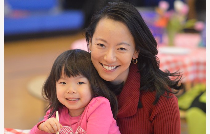 parent and child at British International School of Chicago, Lincoln Park
