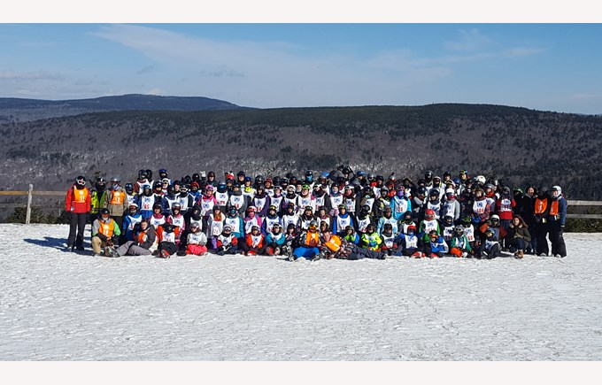 BISW Private British International School of Washington in DC Excited High School students participate in an annual Ski trip