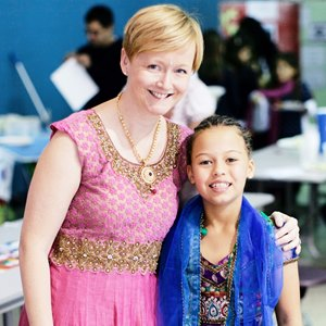 Indian dress at the British International School of Charlotte