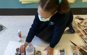 Year 3 and 4 Volcanoes Project Day 1, the Building Process
