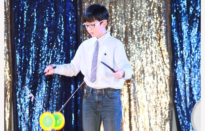 boy at the talent show