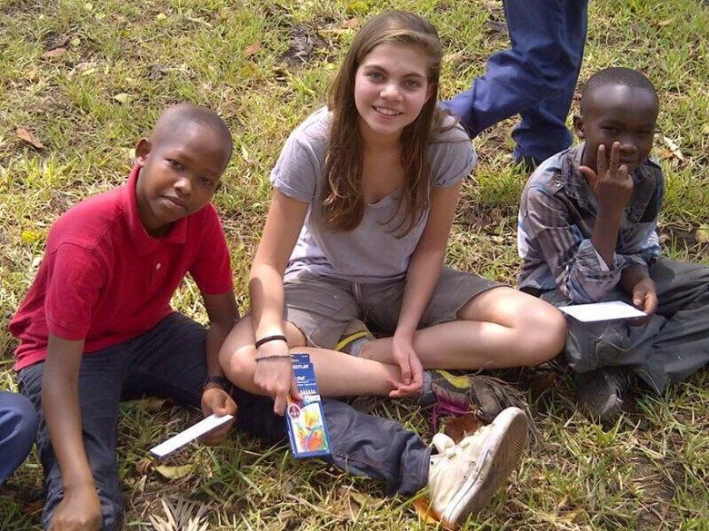 A student poses for a picture in Tanzania