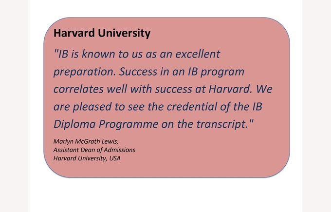 IB quote harvard red